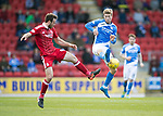 St Johnstone v Aberdeen&hellip;15.04.17     SPFL    McDiarmid Park<br />David Wotherspoon and Andy Considine<br />Picture by Graeme Hart.<br />Copyright Perthshire Picture Agency<br />Tel: 01738 623350  Mobile: 07990 594431