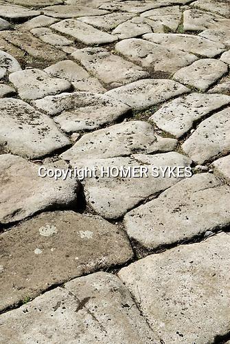 Ancient stone pavement Padley, Grindleford, Derbyshire  UK 2008.