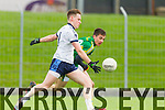 Brian O Beaglaoich Kerry in action against Conor Keane IT Tralee in the McGrath cup at Austin Stack Park on Sunday.