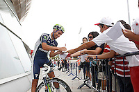 Juan Jose Cobo with the fans before the stage of La Vuelta 2012 beetwen Santander-Fuente De.September 5,2012. (ALTERPHOTOS/Acero) /NortePhoto.com<br /> <br /> **CREDITO*OBLIGATORIO** *No*Venta*A*Terceros*<br /> *No*Sale*So*third* ***No*Se*Permite*Hacer Archivo***No*Sale*So*third