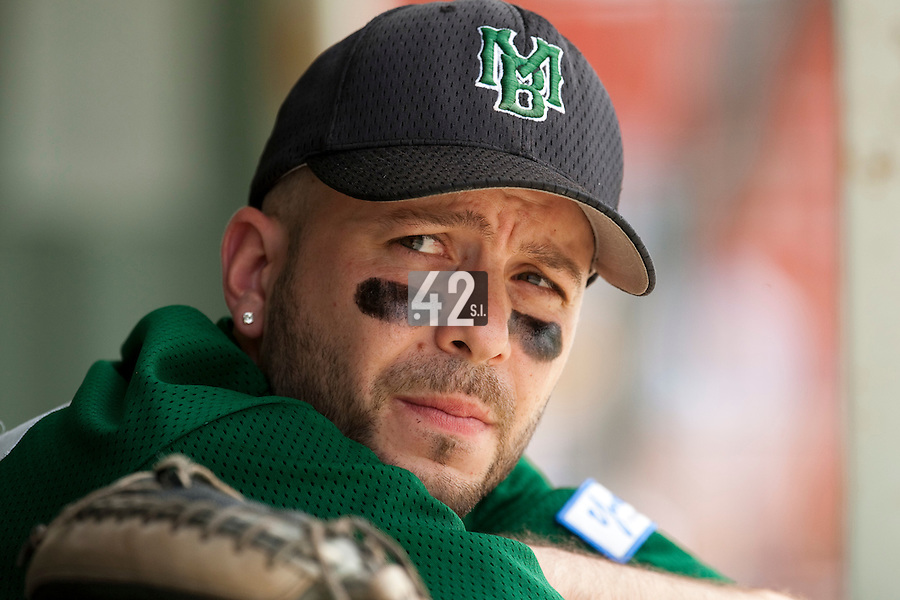 22 May 2009: Olivier Berrebi of Montigneux is seen in the dugout during the 2009 challenge de France, a tournament with the best French baseball teams - all eight elite league clubs - to determine a spot in the European Cup next year, at Montpellier, France.