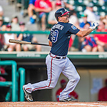 11 March 2016: Atlanta Braves catcher Braeden Schlehuber in action during a Spring Training pre-season game against the Philadelphia Phillies at Champion Stadium in the ESPN Wide World of Sports Complex in Kissimmee, Florida. The Phillies defeated the Braves 9-2 in Grapefruit League play. Mandatory Credit: Ed Wolfstein Photo *** RAW (NEF) Image File Available ***