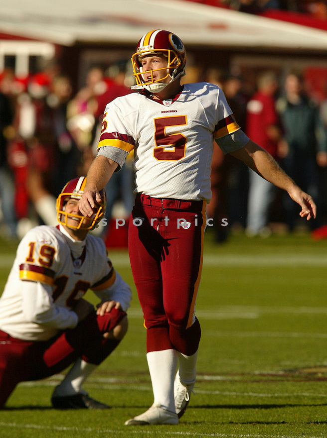 Jeff Chandler during the Washington Redskins v. San Francisco 49ers game on December 18, 2004...Redskins win 26-16..Rob Holt / SportPics