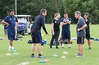 Orlando, FL - Friday Oct. 14, 2016:   Lead instructor Vanni Sartini gives instruction to candidates during a US Soccer Coaching Clinic in Orlando, Florida.
