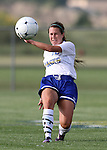 BROOKINGS, SD - AUGUST 16:  McKenzie Wolf #16 from South Dakota State University controls the ball against Winnipeg in the first half of their game Friday evening at Fischback Soccer Field in Brookings. (Photo by Dave Eggen/Inertia)