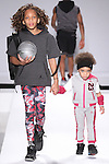Models walk runway in outfits from the Jordan collection, during the Kids Rock fashion show presented by Haddad Brands, during Mercedes-Benz Fashion Week Fall 2015.