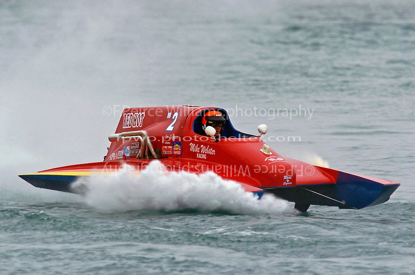 "Mike Webster, NM-2 ""Red Hot""  (National Mod hydroplane(s)"