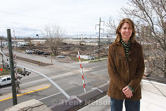 Salt Lake City - Jessica Norie is the executive director of ArtSpace, who are building a new development at 850 South 400 West. Tuesday March 24, 2009.