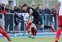 Harry Miskimmin. International Hockey, Blacksticks men v Canada. Warkworth Hockey Turf, Warkworth, Auckland, New Zealand. Thursday 18 October 2018. Photo: Simon Watts/ Hockey NZ