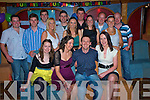 Peter Spillane, Headford, pictured with Corrina Foley, Siobhan Foley, Mary Frances O'Connor, Tommy Evans, Denis Hinchion, James O'Connor, Sandra Evans, John Kenny, Marion McCarthy, john O'Connor, Sheila McCarthy, Andrew Murphy, Anita Hickey and Ger Knee, as he celebrated his 30th birthday in the KillarneyAvenue  on Saturday night.....