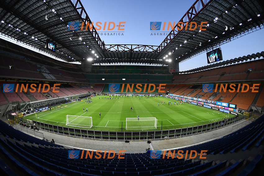 A general view of the empty stadium prior to the Serie A football match between FC Internazionale and UC Sampdoria at Stadio San Siro in Milano ( Italy ), June 21th, 2020. Play resumes behind closed doors following the outbreak of the coronavirus disease. <br /> Photo Image/Insidefoto