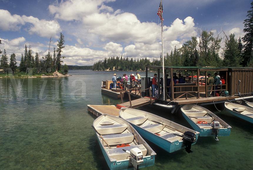 boats, Grand Teton National Park, Jenny Lake, WY, Jackson Hole, Wyoming, Boat rentals on Jenny Lake in Grand Teton Nat'l Park in Wyoming.