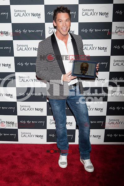 Designer David Bromstad attends the Samsung Galaxy Note 10.1 Launch Event in New York City, August 15, 2012. ©Diego Corredor/MediaPunch Inc. /NortePhoto.com<br /> <br /> **CREDITO*OBLIGATORIO** *No*Venta*A*Terceros*<br /> *No*Sale*So*third* ***No*Se*Permite*Hacer*Archivo***No*Sale*So*third*