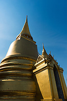 Phra Si Rattana Chedi in the Emerald Budda Temple, Bangkok, Thailand