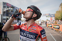 Damiano Cunego(ITA/Nippo-Vini Fantini) post-finish<br /> <br /> 98th Milano - Torino 2017 (ITA) 186km