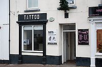 Thursday 28 November 2013<br /> Pictured:Sota Tatoo studio in Llandwit Major <br /> Re: Builder Lee Mayes
