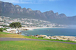 The sea and mountains at Camps Bay, South Africa