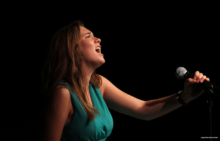 Sabrina Movitz of Exeter performs at the Seacoast Idol event in Stratham, N.H., Sunday, May 19, 2013.  (Portsmouth Herald Photo Cheryl Senter)