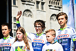 Guillaume Martin (BEL) and Wanty-Gobert Cycling Team at the team presentation before the start of the 105th edition of Li&egrave;ge-Bastogne-Li&egrave;ge 2019, La Doyenne, running 256km from Liege to Liege, Belgium. 27th April 2019<br /> Picture: ASO/Gautier Demouveaux | Cyclefile<br /> All photos usage must carry mandatory copyright credit (&copy; Cyclefile | ASO/Gautier Demouveaux)