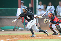 Bristol White Sox center fielder Courtney Hawkins #34 swings at a pitch during a game against the Elizabethton Twins at Joe O'Brien Field on June 25, 2012 in Elizabethton, Tennessee. The Twins defeated the White Sox 9-1. (Tony Farlow/Four Seam Images).