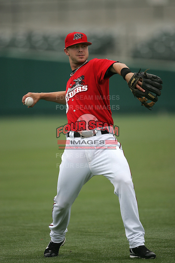 Frisco Rough Riders Casey Benjamin during the 2007 AA Texas League Season. Photo by Andrew Woolley / Four Seam Images.