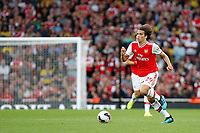 Mattéo Guendouzi of Arsenal on the ball during the Premier League match between Arsenal and Aston Villa at the Emirates Stadium, London, England on 22 September 2019. Photo by Carlton Myrie / PRiME Media Images.
