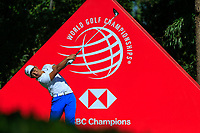 C.T. Pan (TPE) on the 9th tee during the final round at the WGC HSBC Champions 2018, Sheshan Golf CLub, Shanghai, China. 28/10/2018.<br /> Picture Fran Caffrey / Golffile.ie<br /> <br /> All photo usage must carry mandatory copyright credit (&copy; Golffile | Fran Caffrey)