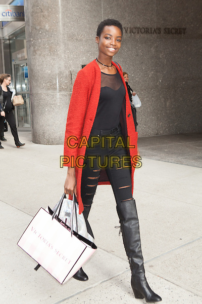 NEW YORK, NY - NOVEMBER 6: Maria Borges seen  in New York City on November 5, 2015. <br /> CAP/MPI/DC<br /> &copy;DC/MPI/Capital Pictures