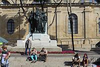 Grand Siege Square vor der Kathedrale in Valletta, Malta, Europa, Unesco-Weltkulturerbe