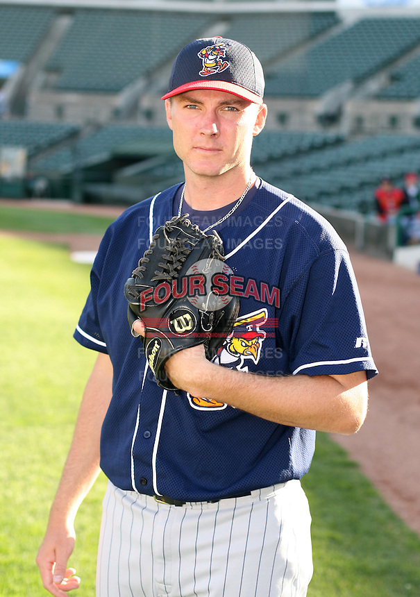 2007:  Jeremy Johnson of the Toledo Mudhens poses for a photo after batting practice prior to a game vs. the Rochester Red Wings in International League baseball action.  Photo By Mike Janes/Four Seam Images