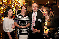 Andrew Cordon of Ellis Watchorn & Saxton with, from left,  Claire Kong, Claire Harrington and Janette Eckloff all of Begbies Traynor