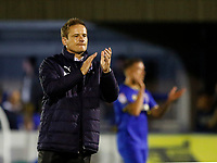 AFC Wimbledon manager, Neal Ardley looks pained following the final whistle at the Sky Bet League 1 match between AFC Wimbledon and MK Dons at the Cherry Red Records Stadium, Kingston, England on 22 September 2017. Photo by Carlton Myrie / PRiME Media Images.