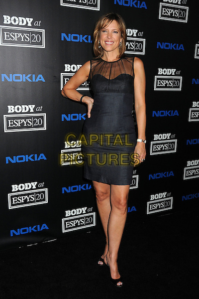 Hannah Storm .4th Annual ESPN Body Issue Pre-ESPYS Party held at The Belasco Theater, Los Angeles, California, USA..July 10th, 2012.full length black dress sheer hand on hip.CAP/ADM/BP.©Byron Purvis/AdMedia/Capital Pictures.