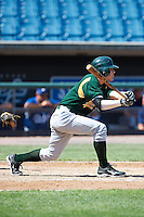 Alexander Krupa #3 of Greenwood Community High School in Greenwood, Indiana playing for the Oakland Athletics scout team during the East Coast Pro Showcase at Alliance Bank Stadium on August 2, 2012 in Syracuse, New York.  (Mike Janes/Four Seam Images)