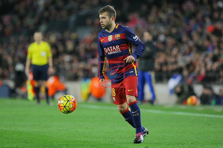 League BBVA 2015/2016 -Game: 20.<br /> FC Barcelona vs Athletic Club: 6-0.<br /> Jordi Alba.