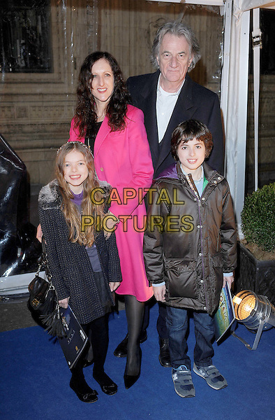 Sir Paul Smith & family.'Cirque Du Soleil: Totem' UK Premiere, Royal Albert Hall, London, England..5th January 2012.full length black pink brown jacket coat kids children .CAP/BEL.©Tom Belcher/Capital Pictures..