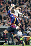 Real Madrid CF's Gareth Bale and FC Barcelona's Clement Lenglet and  Gerard Pique during La Liga match. March 02,2019. (ALTERPHOTOS/Alconada)