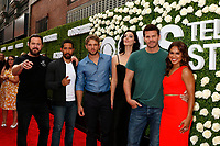 LOS ANGELES - AUG 1:  Aj Buckley, Neil Brown Jr, Max Thieriot, Jessica Pare, David Boreanaz, Toni Trucks at the CBS TV Studios Summer Soiree TCA Party 2017 at the CBS Studio Center on August 1, 2017 in Studio City, CA