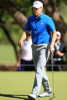 Jordan Spieth (USA) on the 6th during the 2nd round at the WGC Dell Technologies Matchplay championship, Austin Country Club, Austin, Texas, USA. 23/03/2017.<br /> Picture: Golffile | Fran Caffrey<br /> <br /> <br /> All photo usage must carry mandatory copyright credit (&copy; Golffile | Fran Caffrey)