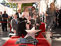 HOLLYWOOD, CALIFORNIA - DECEMBER 4: (L-R) Kevin James, Jessica Lange, Ryan Murphy, Sarah Paulson, Brad Falchuk, Leron Gubler and Gwyneth Paltrow attend a ceremony honoring Ryan Murphy with a star on The Hollywood Walk of Fame on December 4, 2018 in Hollywood, California. (Photo by Frank Micelotta/Fox/PictureGroup)