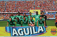 MEDELLÍN -COLOMBIA-22-02-2015. Jugadores de La Equidad posan para una foto previo al encuientro con Deportivo Independiente Medellin por la fecha 5 de la Liga Águila I 2015 jugado en el estadio Atanasio Girardot de la ciudad de Medellín./ Players of La Equidad pose to a photo prior the match against Deportivo Independiente Medellin for the  5th date of the Aguila League I 2015 at Atanasio Girardot stadium in Medellin city. Photo: VizzorImage/León Monsalve/STR