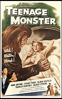 BNPS.co.uk (01202 558833)<br /> Pic: Bonhams/BNPS<br /> <br /> Teenage Monster, 1958.<br /> <br /> A wacky collection of sci-fi and horror genre B movie posters from the 'Golden Age of Hollywood' have emerged for sale. <br /> <br /> The 15-strong assortment of obscure advertisements spans from 1933 until 1966 and are worth up to &pound;5,000 each. <br /> <br /> B movies were characterised by their low-budget and extravagant posters, which were often better received than the actual film. <br /> <br /> The most expensive is an 83ins by 39ins poster for the 1933 film Ghoul, which is expected to fetch &pound;5,000. <br /> <br /> The posters have been consigned to auction by a selection of UK sellers to auctioneer Bonhams.