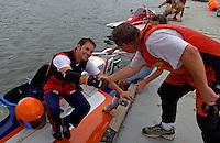 Kevin Ladd (#4) and Bud Nollman (R,#6) SST-45 class..Greater Cincinnati ChampBoat Grand Prix, Newport, KY July 17, 2005.Photo Credit: ©John Seago/FPWp 2005.ref:Digital Image Only
