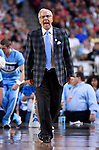 GLENDALE, AZ - APRIL 03:  Head coach Roy Williams of the North Carolina Tar Heels reacts to gameplay during the 2017 NCAA Men's Final Four National Championship game against the Gonzaga Bulldogs at University of Phoenix Stadium on April 3, 2017 in Glendale, Arizona.  (Photo by Brett Wilhelm/NCAA Photos via Getty Images)