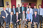 GAA presenter Marty Morrissey with Cordal GAA players past and present at the GAA SuperValu Club dinner at Cordal on Thursday night front row l-r: Tim O'Donoghue, Marty Morrissey, John Griffin President, Maurice Costello, James O'Donoghue. Back row: Domo O'Ciardubháin, Billy Cronin, John Culloty, John Brosnan, Eamon John O'Donoghue, Mossie Enright, Micháel Cahill, Sean Óg and Niall O'Ciardubháin