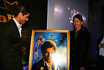 Artist Jim Warren and John Stamos at the Fame-Wall World Premiere Launch Party and Inaugural Portrait Unveiling Honoring John Stamos currently starring in Broadway's Bye, Bye Birdie on September 10, 2009 at Trattoria Dopo Teatro, NYC - now Home of New Fame-Wall, NYC. Fame-Wall salutes those who have inspired people and made a significant impact through the world of art and entertainment. (Photo by Sue Coflin/Max Photos)