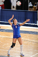 20 November 2008:  South Alabama middle blocker Brittany Blackwelder (7) serves during the FIU 3-1 victory over South Alabama in the first round of the Sun Belt Conference Championship tournament at FIU Stadium in Miami, Florida.