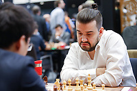 29th December 2019, Moscow, Russia;  Ian Nepomniachtchi R of Russia competes with Yu Yangyi of China in the final round of the 2019 King Salman World Chess Rapid Open Championship in Moscow, Russia