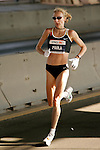 Paula Radcliffe (GBR) crosses the Queensboro Bridge from Queens into Manhattan while competing in the ING New York City Marathon in New York, New York on November 4, 2007.  Martin Lel (KEN) won the men's race with a time of 2:09:04  Radcliffe won the women's race with a time of 2:23:09.