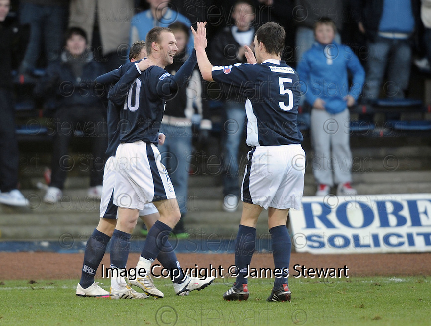 17/01/2010  Copyright  Pic : James Stewart.sct_jspa_03_dundee_v_dunfermline  .:: DUNDEE'S COLIN MCMENAMIN CELEBRATES AFTER HE SCORES THE SECOND::.James Stewart Photography 19 Carronlea Drive, Falkirk. FK2 8DN      Vat Reg No. 607 6932 25.Telephone      : +44 (0)1324 570291 .Mobile              : +44 (0)7721 416997.E-mail  :  jim@jspa.co.uk.If you require further information then contact Jim Stewart on any of the numbers above.........